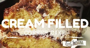 Cream Filled Coffee Cake Recipe