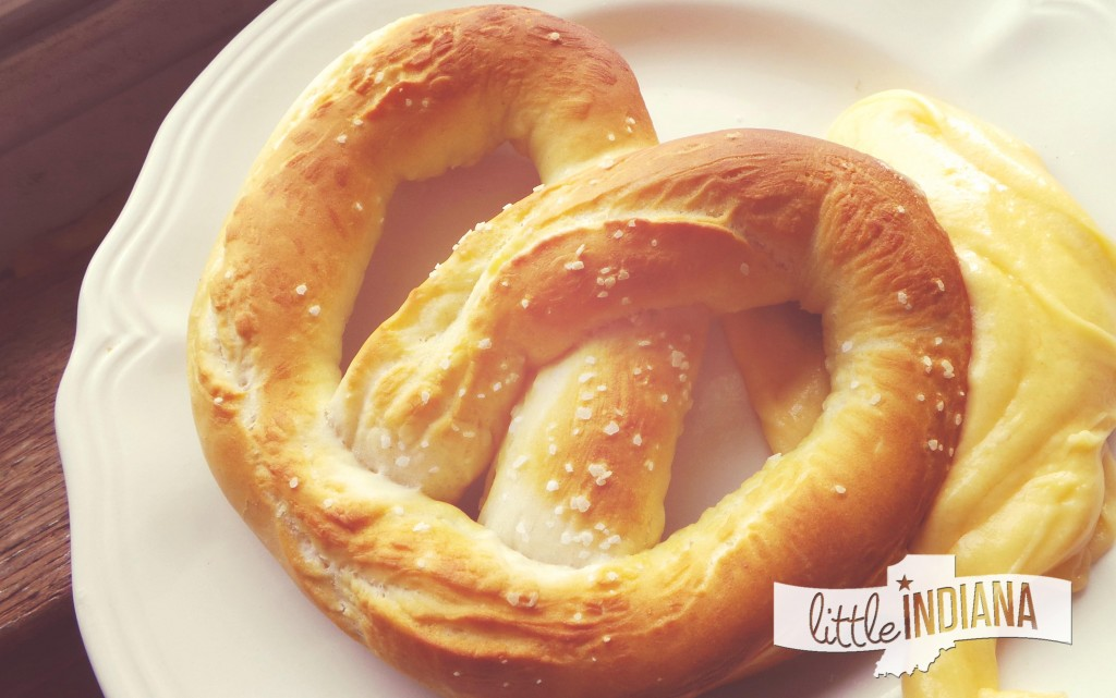 Homemade Pretzels with Cheesy Mustard Dip Recipe