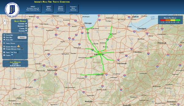 Indiana Real Time Traffic