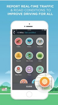 WAZE App for GPS and Indiana Maps