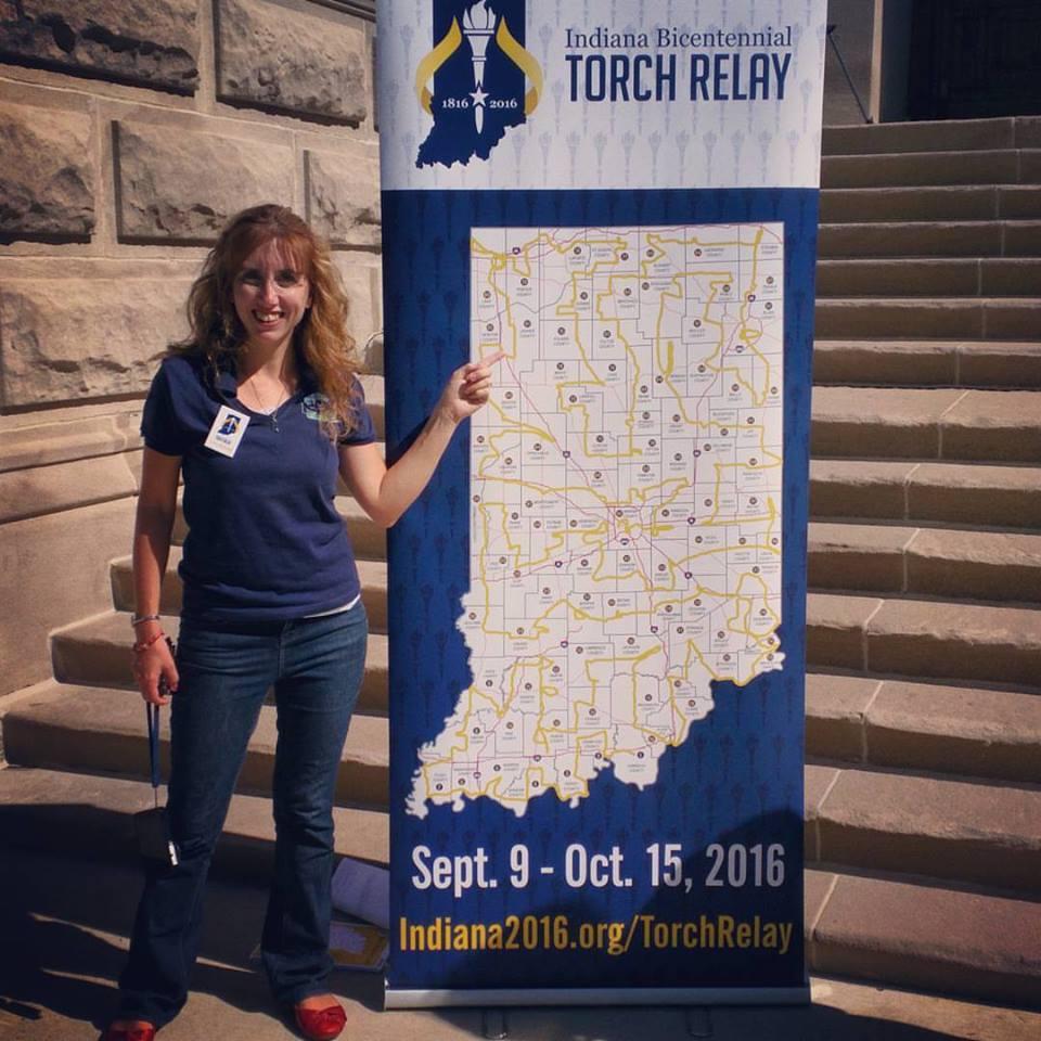 Jessica Nunemaker Jasper County Indiana Bicentennial Torchbearer 2016