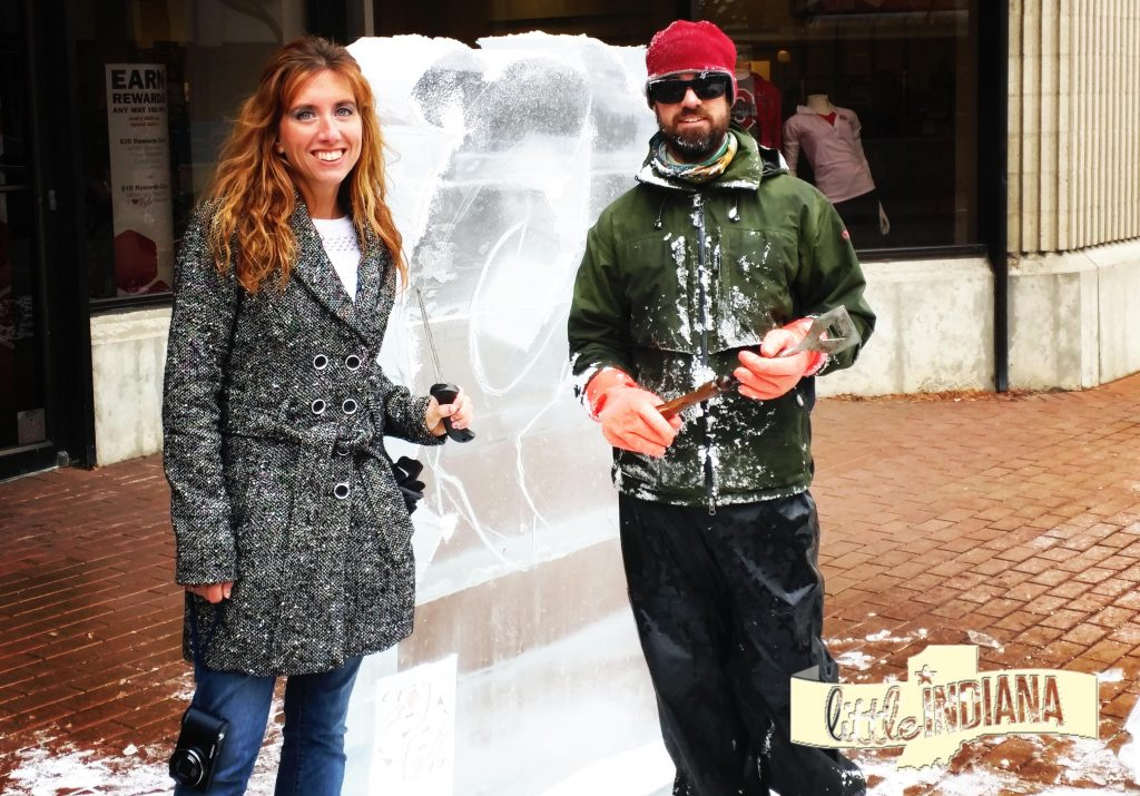 Benjamin Rand Ice Sculptor and Jessica Nunemaker Richmond Indiana