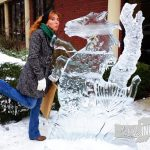Downtown Ice Sculptures, like this horse, are everywhere during the Richmond Meltdown festival.