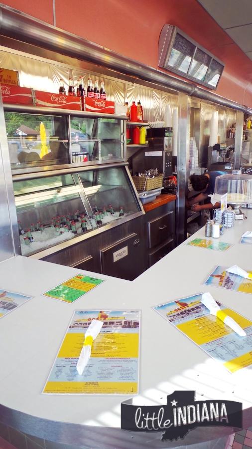 Inside Oasis Diner Plainfield Indiana