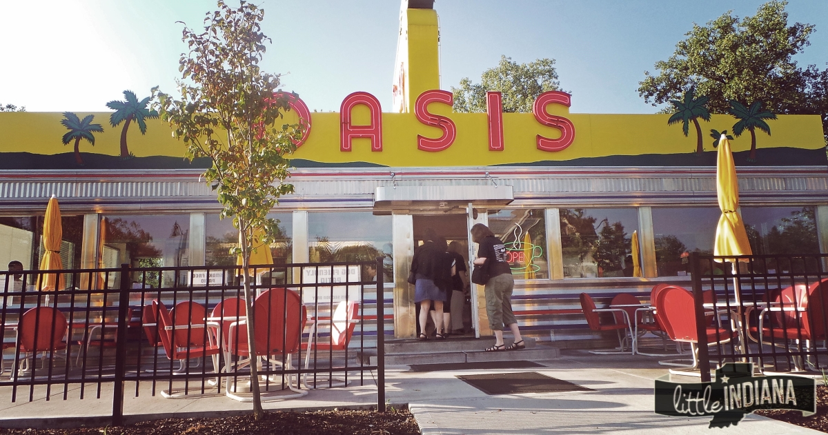 Plainfield, Indiana is home to Oasis Diner, a wonderfully restored diner.