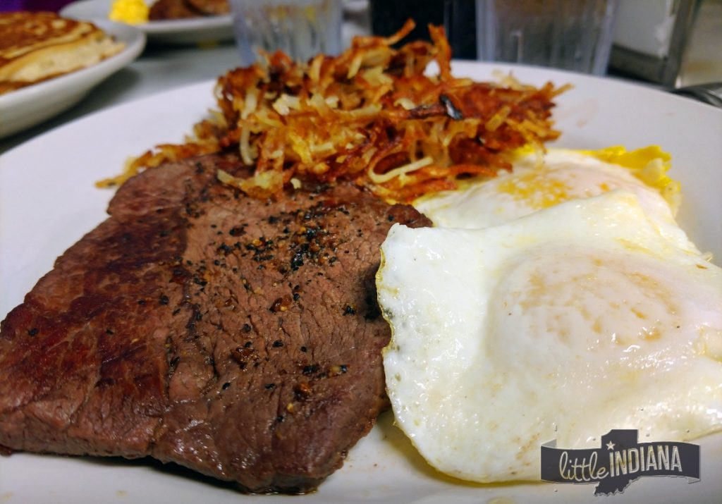 Steak and Eggs Oasis Diner Plainfield Indiana
