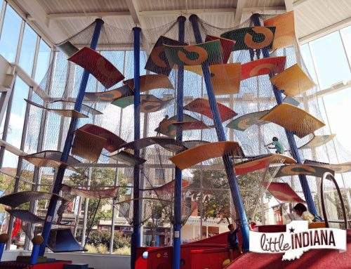 The Commons is a Free Indoor Playground in Columbus (with a two-story climber)