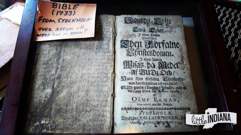 Old Swedish Bible at Metamora's Meeting House Antiques