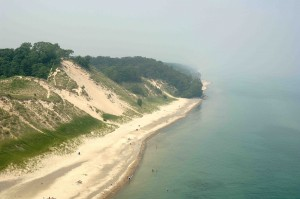 This shot of the Indiana Dunes was taken by Air One Aerial Photography in Valparaiso.