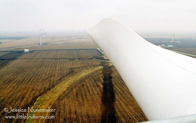 Indiana Wind Farm Along Interstate 65