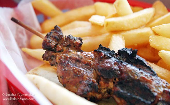 Athens Grill in Lowell, Indiana Shish-ka-bob off the Kid's Meal