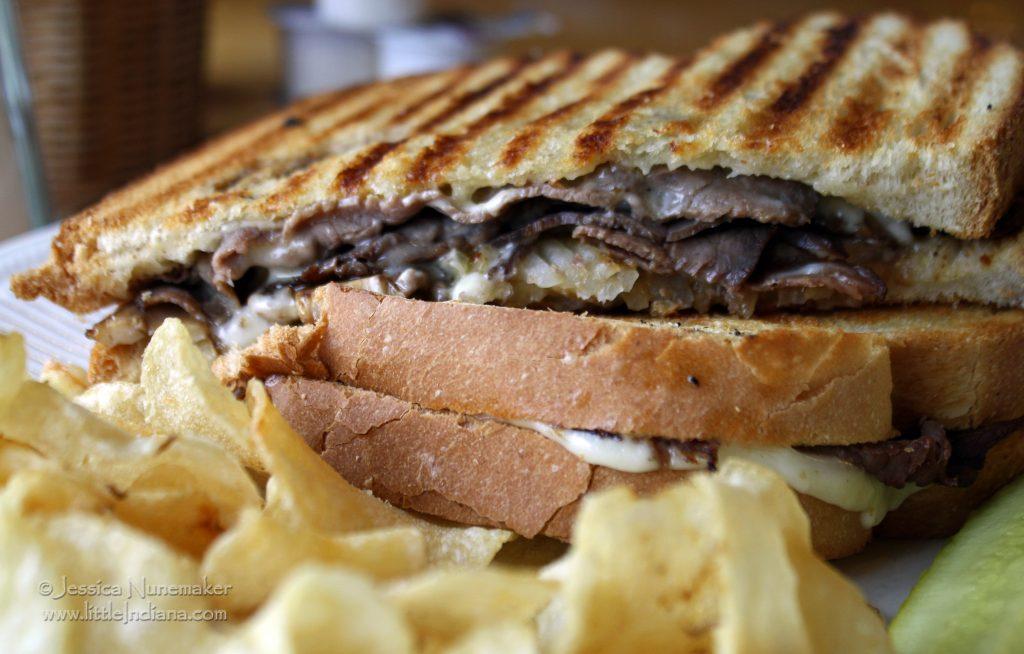 Corner Cup Cafe: Walkerton, Indiana Beef and Mushroom Panini