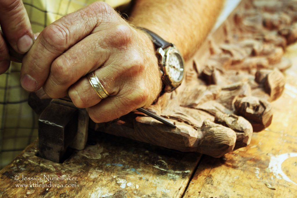 Batesville, Indiana: Weberding's Wood Carving in Action!