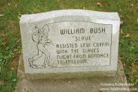 "William Bush ""Slave"" Headstone at Willow Grove Cemetery in Fountain City, Indiana"