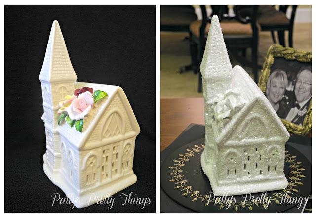 Glittery White Church Craft