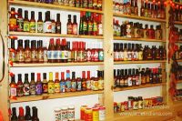 Jerky Junction in Converse, Indiana Wall of Hot Sauce