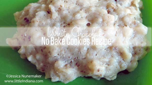 White Chocolate No Bake Cookies Recipe