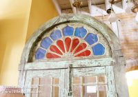 White River Architectural Salvage and Antiques in Centerville, Indiana Stained Glass Doorway