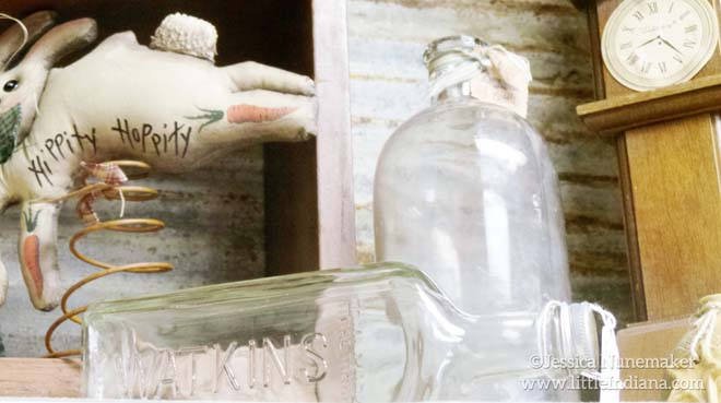 Isabella Marie's Antique and Variety Store in Greencastle, Indiana Vintage Bottles