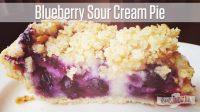 Blueberry Sour Cream Pie Recipe