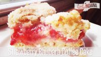Strawberry Rhubarb Coffee Cake Recipe