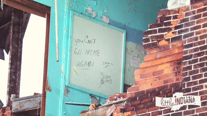 You Can't Go Home Again: Fairmount High School Graffiti at James Dean's Old School