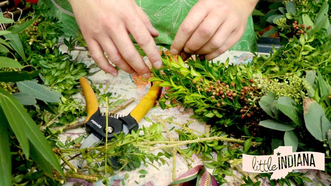 Handmade Wreaths at Plainfield Tri Kappa Gingerbread Christmas at Plainfield High School