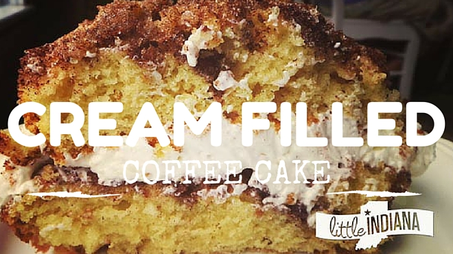 Cream Filled Coffee Cake Recipe