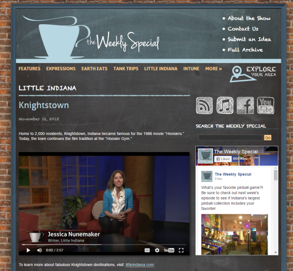 Little Indiana, Jessica Nunemaker, in Knightstown, Indiana for PBS Segment